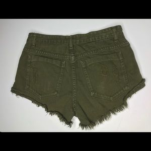 Cotton On cut off roll up frayed button fly short